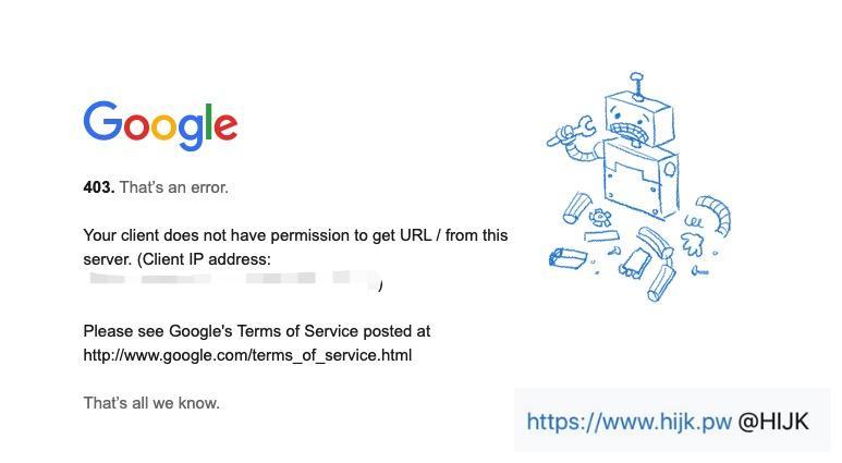 谷歌学术403
