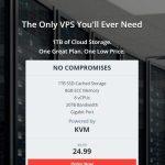1Tbvps:凤凰城VPS/8核/8G内存/1T HDD/20T流量/1G带宽/KVM/月付$22.49/IOFLOOD机房/高配做站/大盘鸡